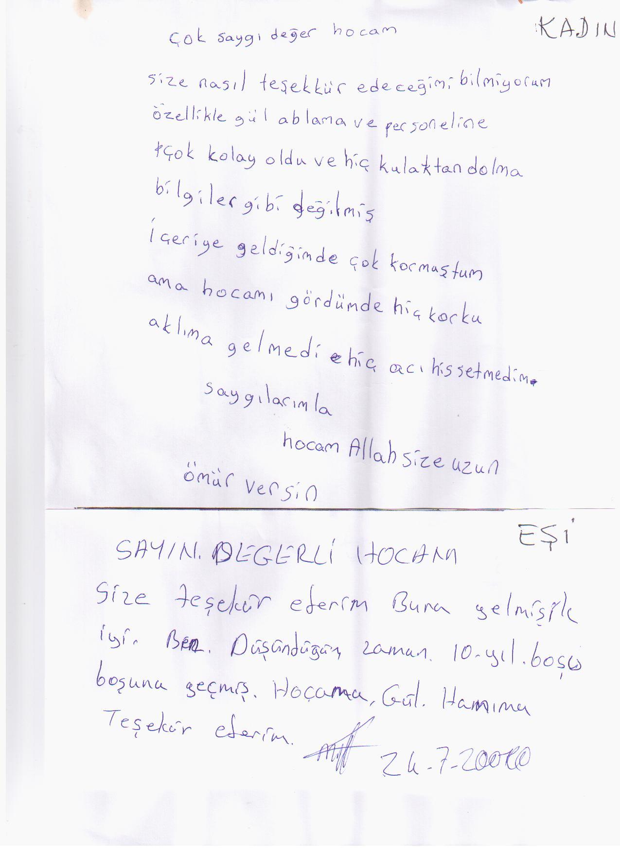 Eş Mektubu 125 Nolu Mektup